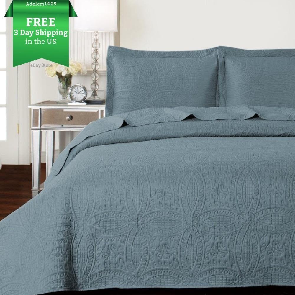3-Piece King Size 3D Comforter Oversized Bedding Sheets Quilt Set w ...