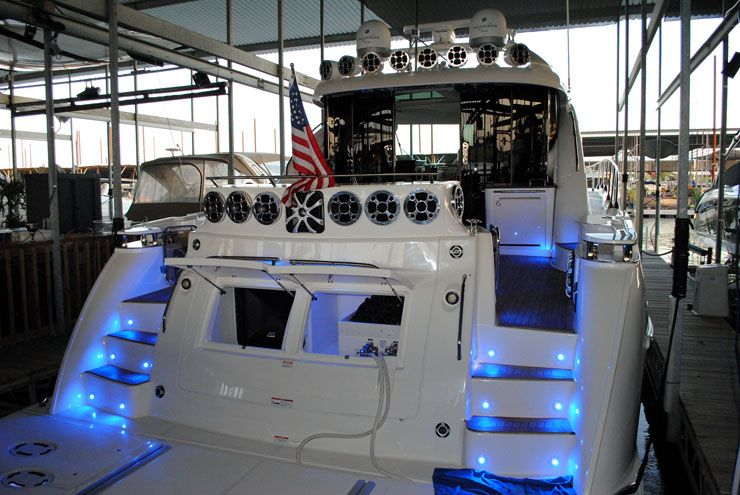 Boat Stereo wiring Marine Audio Video Installation
