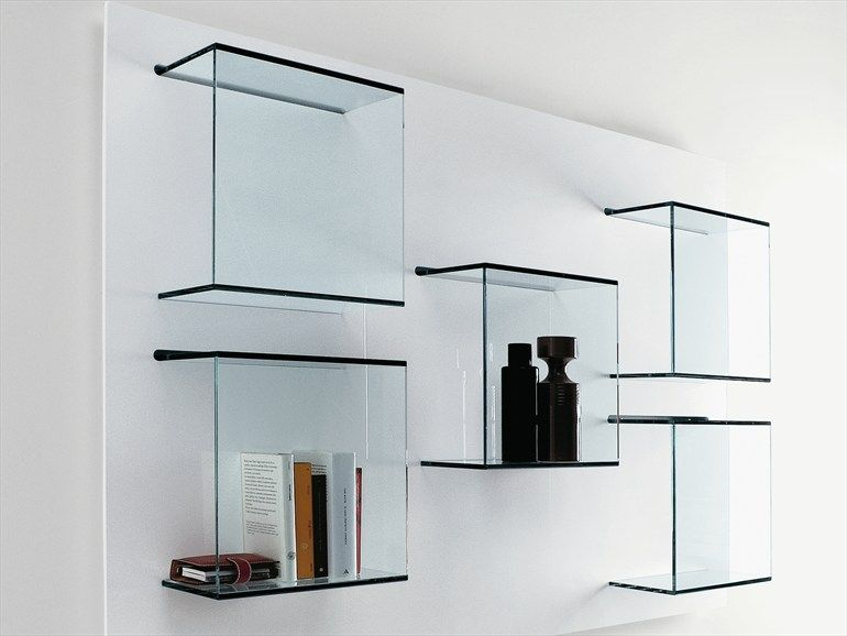 Tonelli Mobili ~ Wall mounted glass bookcase dazibao by t.d. tonelli design design