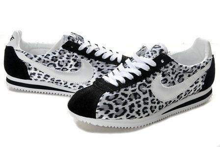 uk availability 9fc3c 164cd Leopard-Nike-Cortez-Shoes-Animal-Print-White-Black-