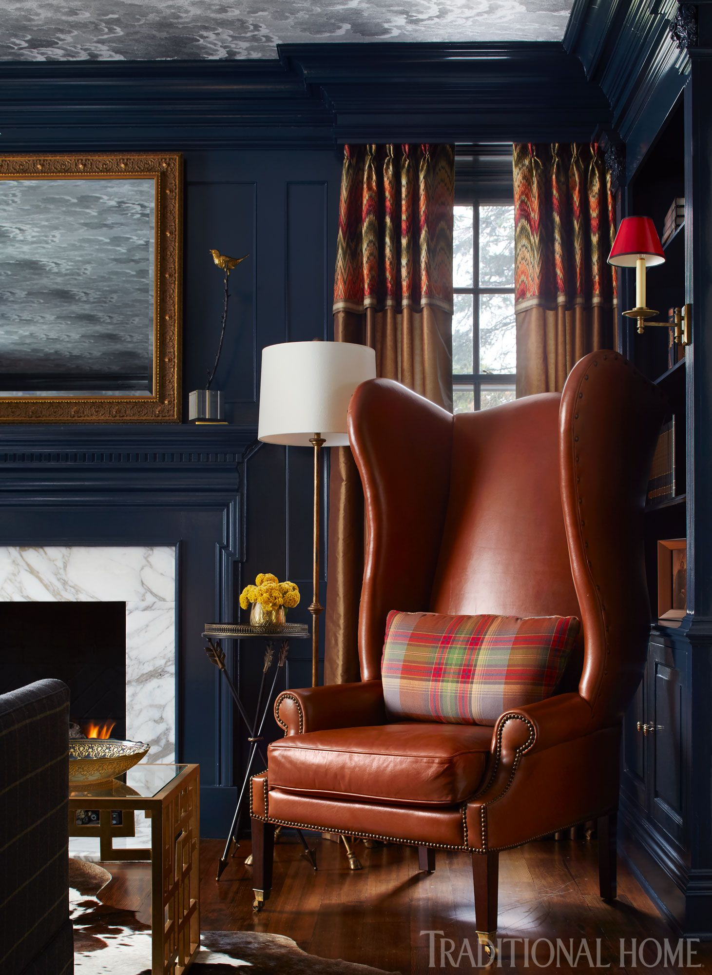 Decorating with a Fall Palette is part of Traditional Living Room Dark - Bring the season's favorite outdoor hues into your home