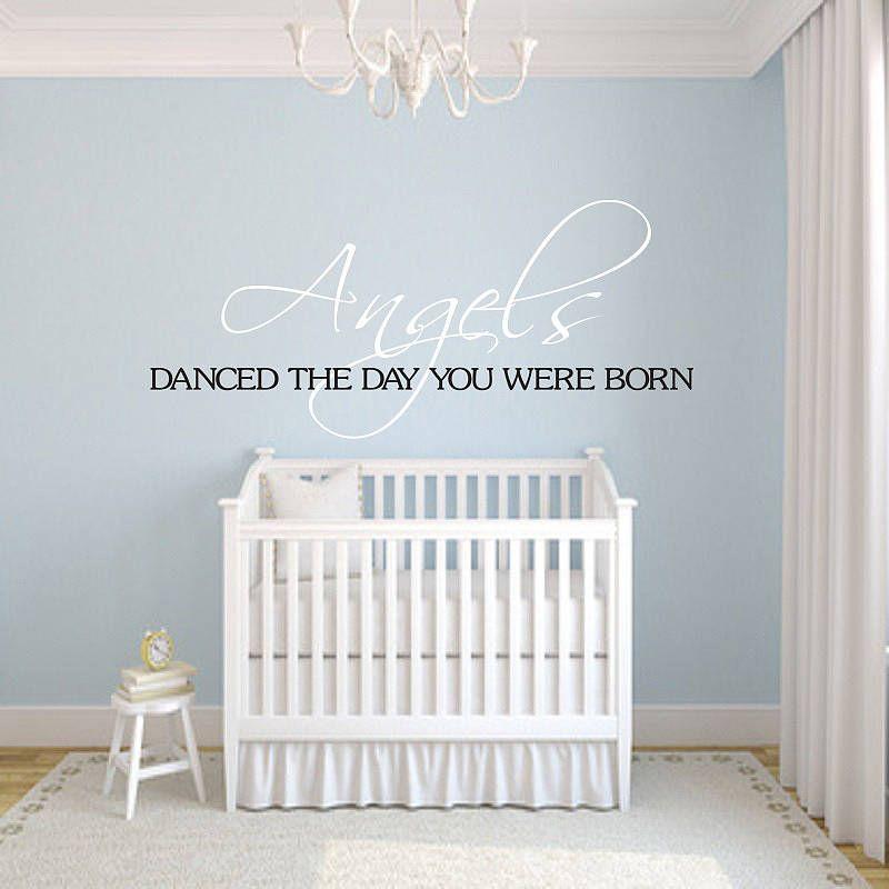 angels danced nursery wall sticker by wall decals uk by gem designs