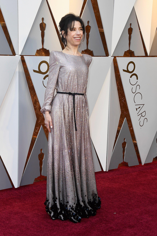 1e759292cbc 2018 Oscars - Sally Hawkins in Armani Privé and Chopard jewelry