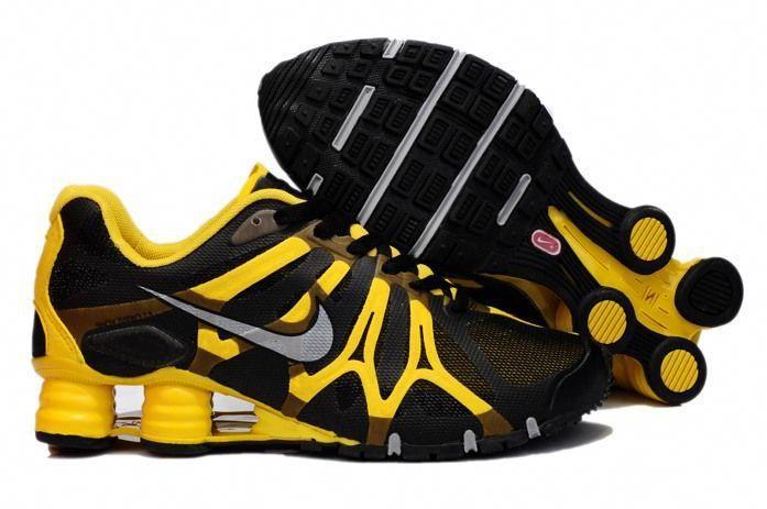 Nike Air Shox Turbo + 13 XIII Mens Shoes Black Yellow   Nike ...