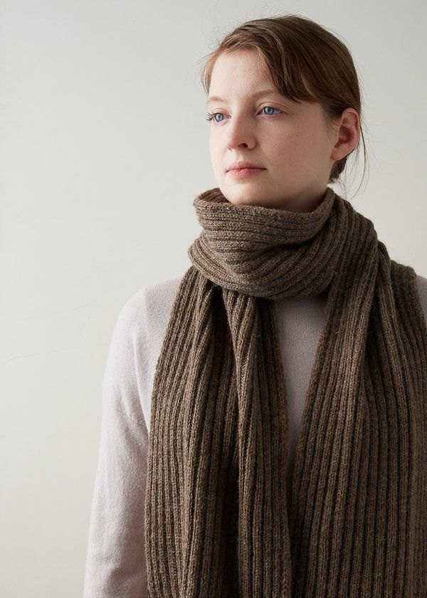 Lovely Ribbed Scarf | Ribbed scarf, Scarf knitting patterns