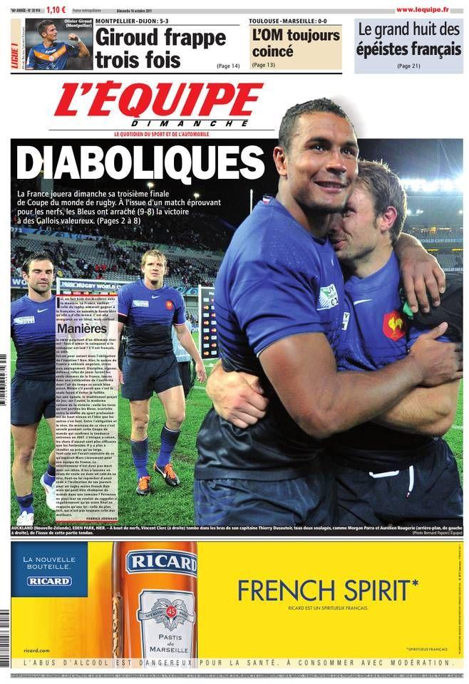 L'Équipe - Dimanche 16 Octobre 2011 - N° 20914