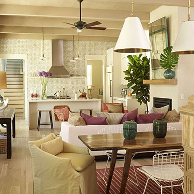 Open floor plan house designs be a dreamer pinterest for Small dining area design ideas