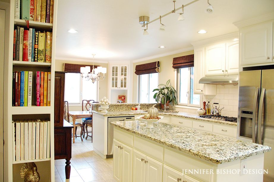 Jennifer Bishop Designwhite Painted Oak Cabinets  My Work Cool Repainting Oak Kitchen Cabinets Review