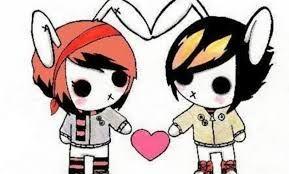 Resultado De Imagen Para Dibujos A Lapiz De Emos Enamorados Emo Love Cartoon Emo Love Emo Wallpaper