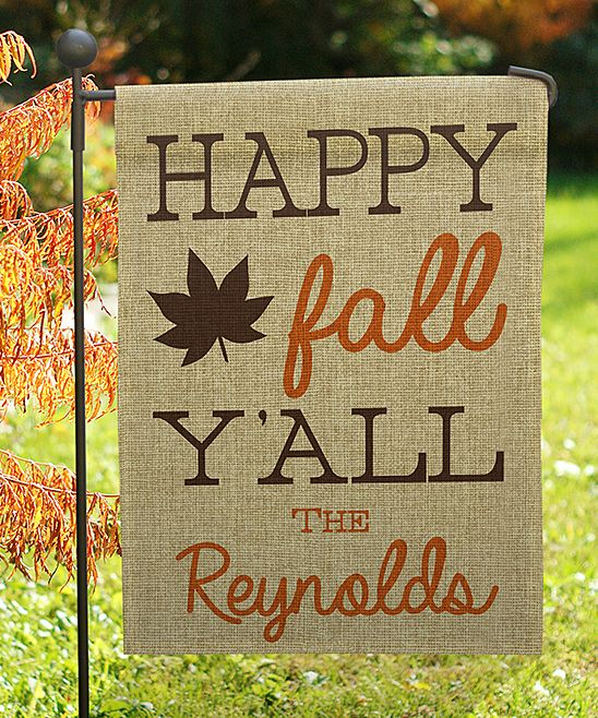 Happy Fall Y All Personalized Garden Flag Fall Thanksgiving