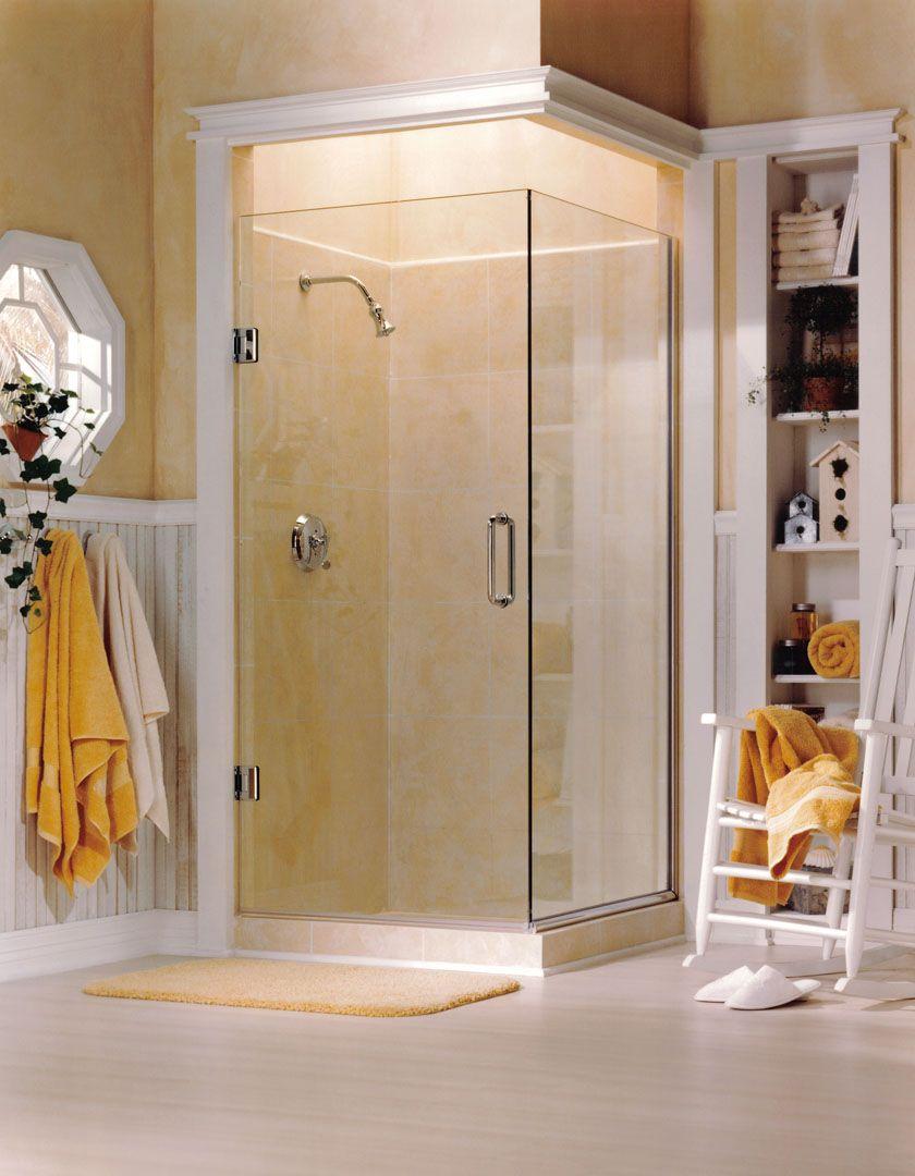 Binswanger Glass | Frameless Swing Shower Door with return, chrome ...
