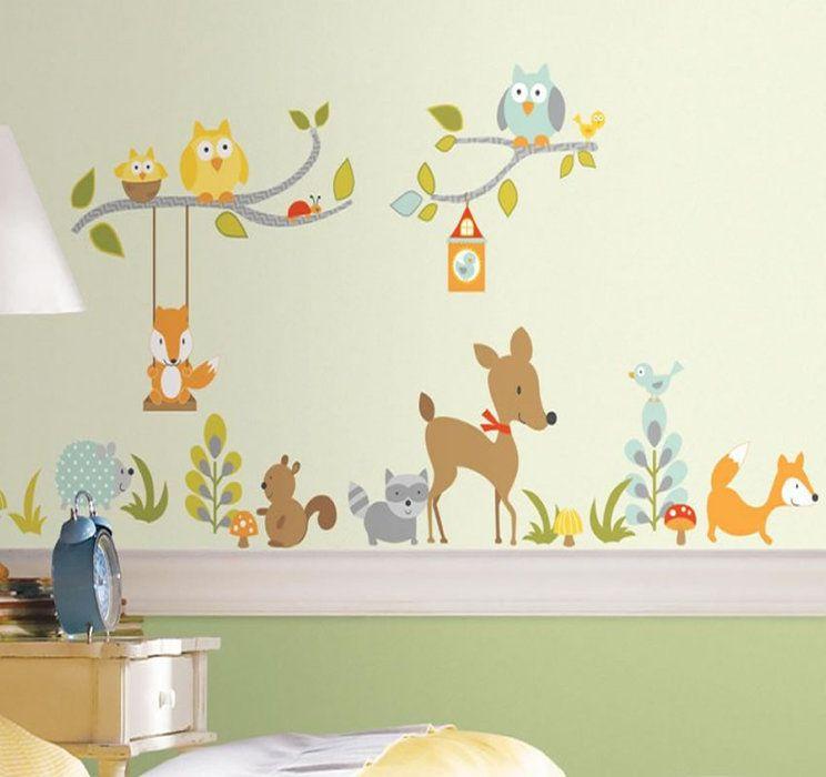 Nursery Decor -Woodland Fox and Friends Stickers ...