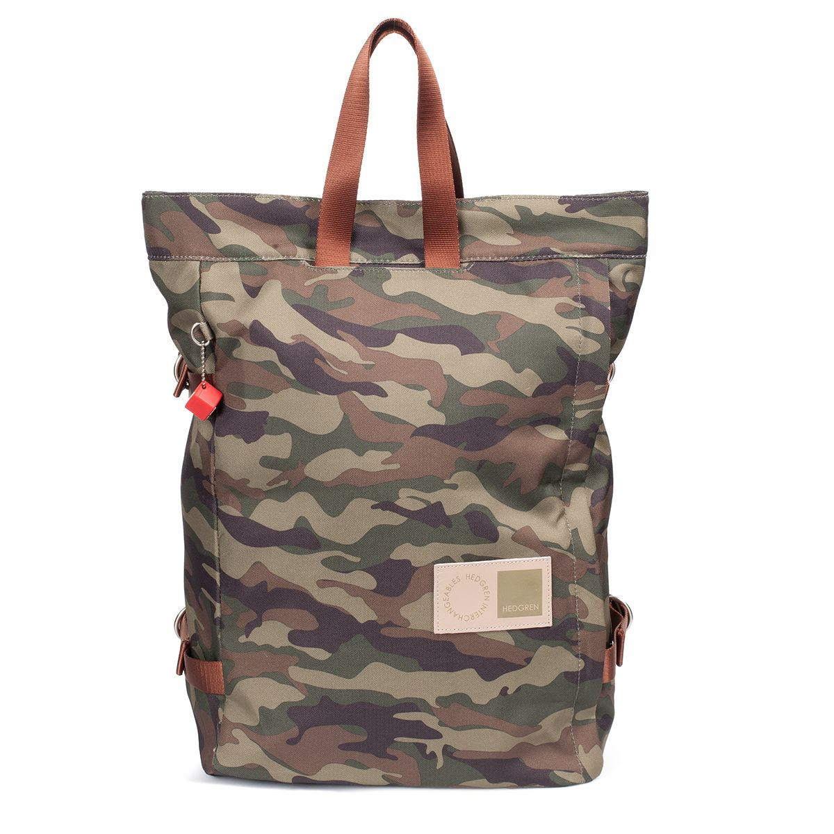 Hedgren Interchangeables Collection Ss14 The Outer Tote In Niion Hipbag Camo Navy Camouflage