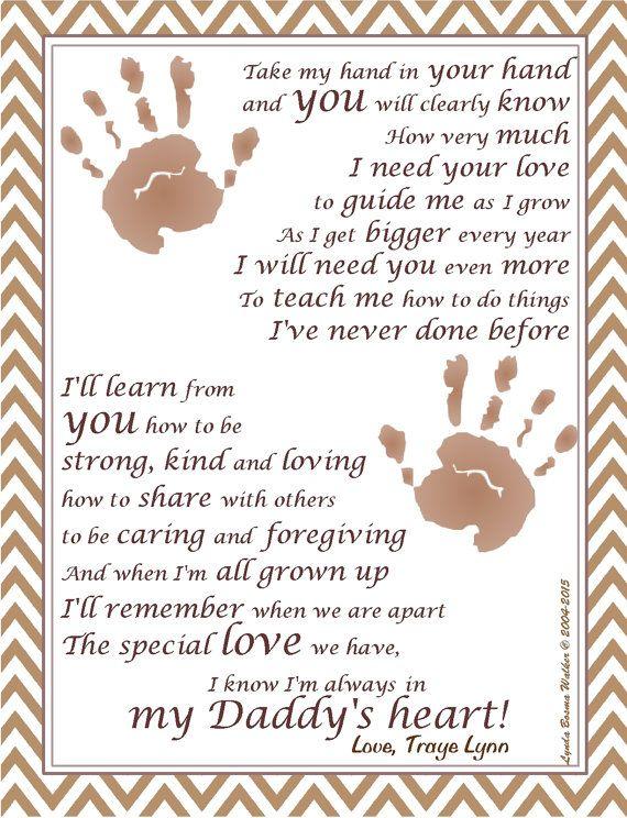 UPRINT Add Baby / Child Handprints ~ In My Daddy\'s Heart ...