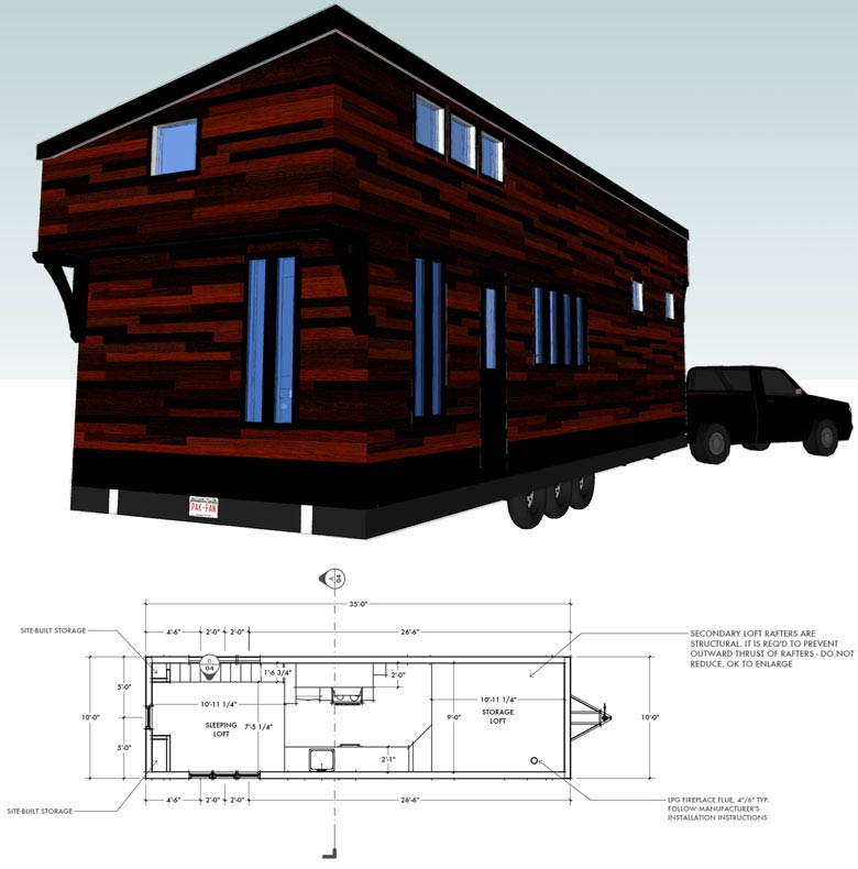 27 Adorable Free Tiny House Floor Plans (With images) | Tiny house ...