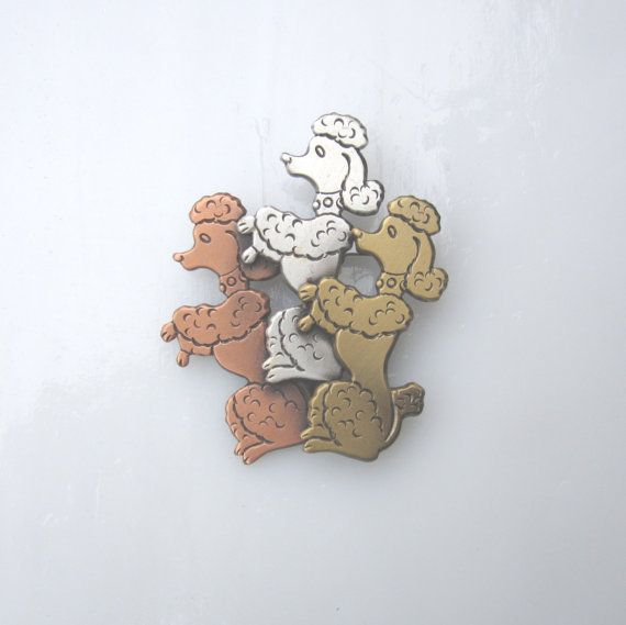 Poodle Brooch- Poodle Jewelry- Dog Lover Gift- Dog Breed