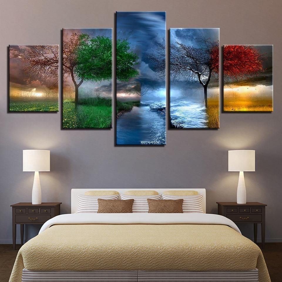 Tapestry King On Instagram Four Season Wall Hanging Canvas Shop The Coolest Tapestries At Www Tapestr Beautiful Wall Art Wall Prints Canvas Wall Art