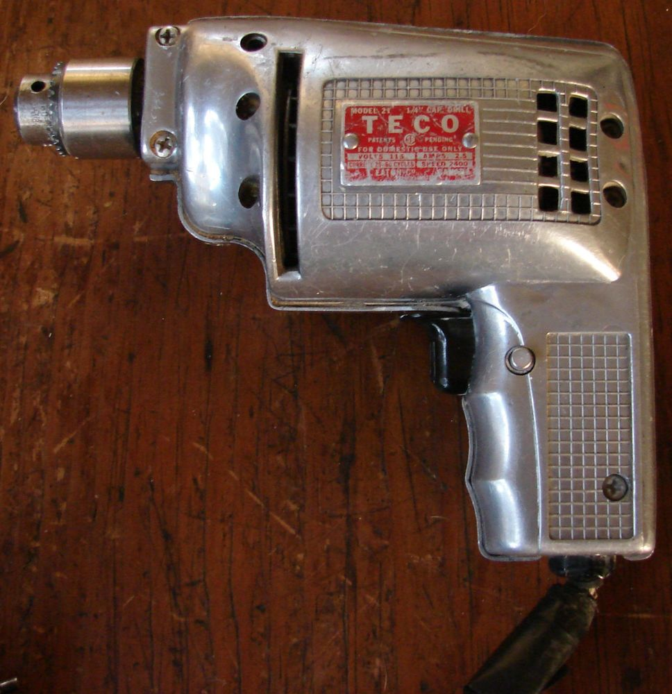 Vintage T. Eaton Company TECO Tecomaster Drill Works! Made in Canada