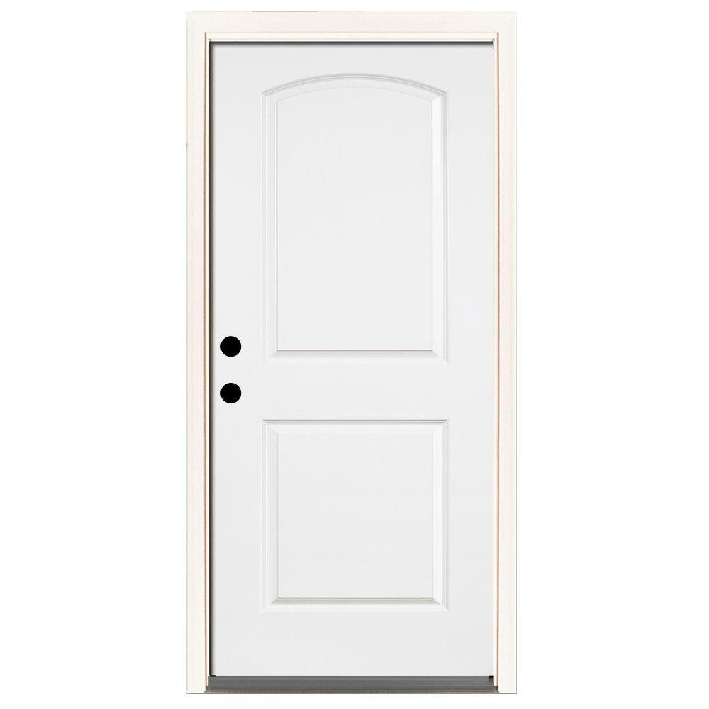 Steves Sons 32 In X 80 In Premium 2 Panel Roundtop Right Hand Inswing Primed White Steel Prehung Front Door With 4 9 16 In Frame St21 Pr 28 4irh Tall Cabinet Storage Exterior Doors Home Porch