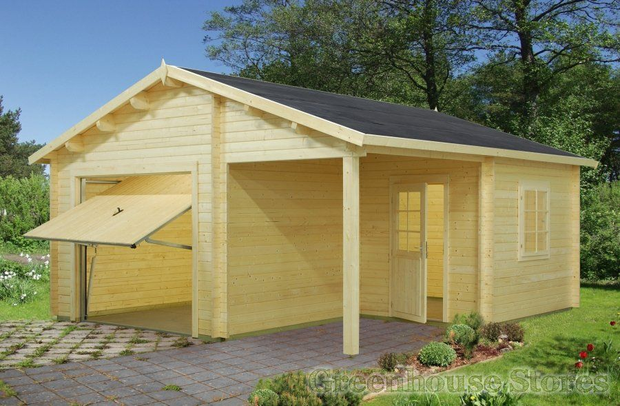 Palmako Wooden Garage 4 with Up and Over Door from