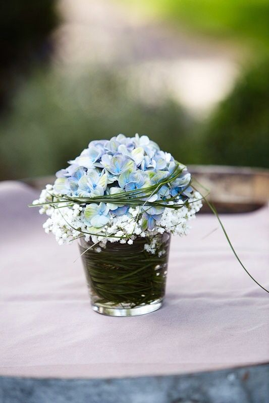 hortensie flower decoration hochzeit blumen pinterest hortensie tischdeko und kommunion. Black Bedroom Furniture Sets. Home Design Ideas