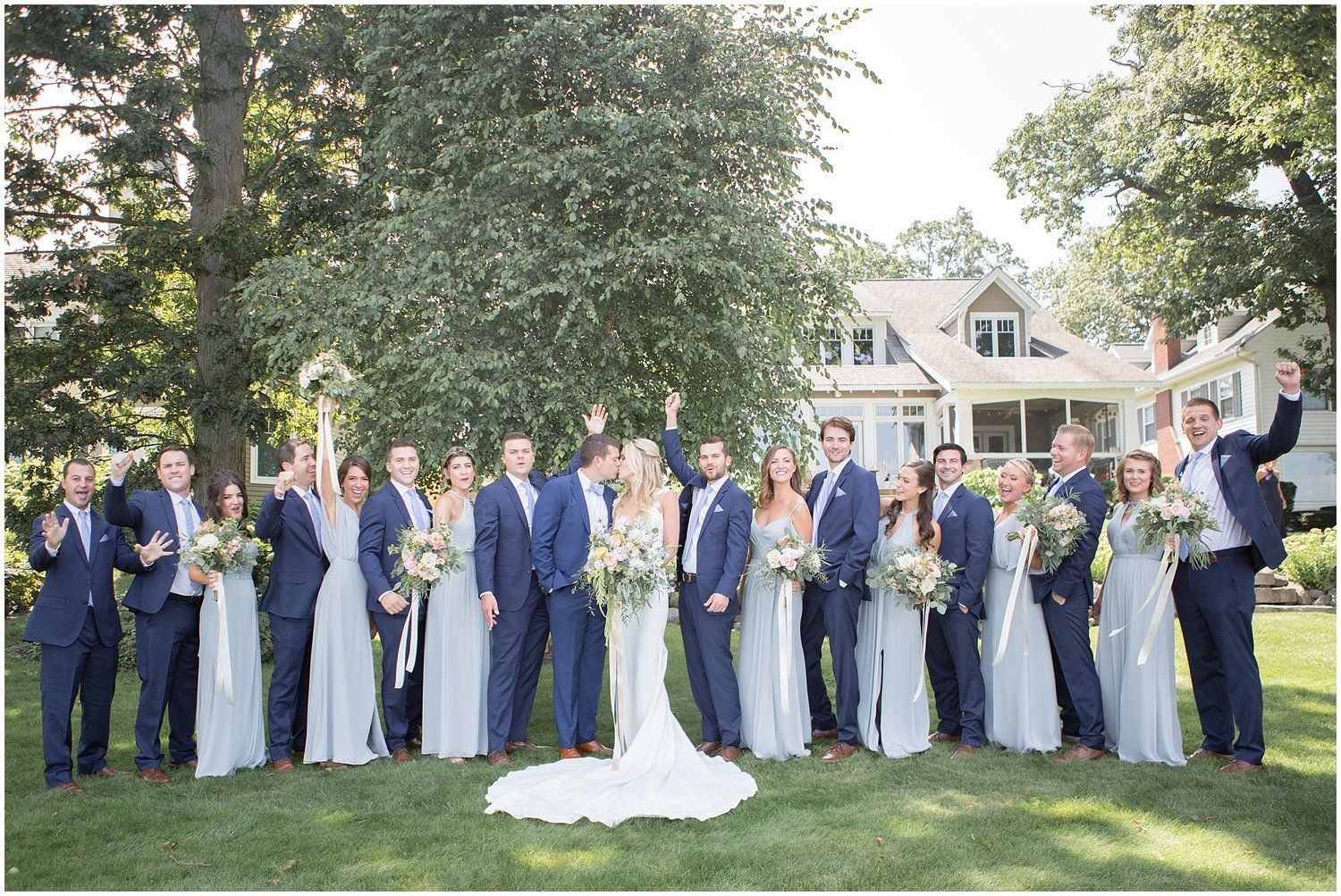 We Love The Powder Blue Color For Bridesmaids Dresses Specially Because It Pairs So We Powder Blue Bridesmaid Dress Blue Suit Wedding Navy Blue Suit Wedding