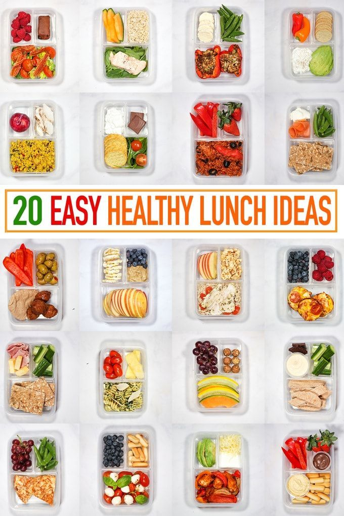 20 Healthy Packed Lunch Ideas - Recipes for Quick Lunches to Go! images