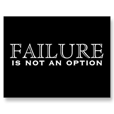 Failure Is Not An Option Black White Postcard Keepitg