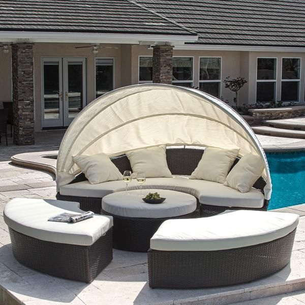 Bellagio 4-Piece Cabana Sectional Set Backyard Ideas Pinterest