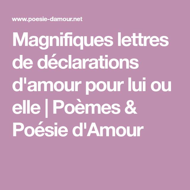 Lettres Damour Poesie D Amour Lettre Amour Et Lettre A