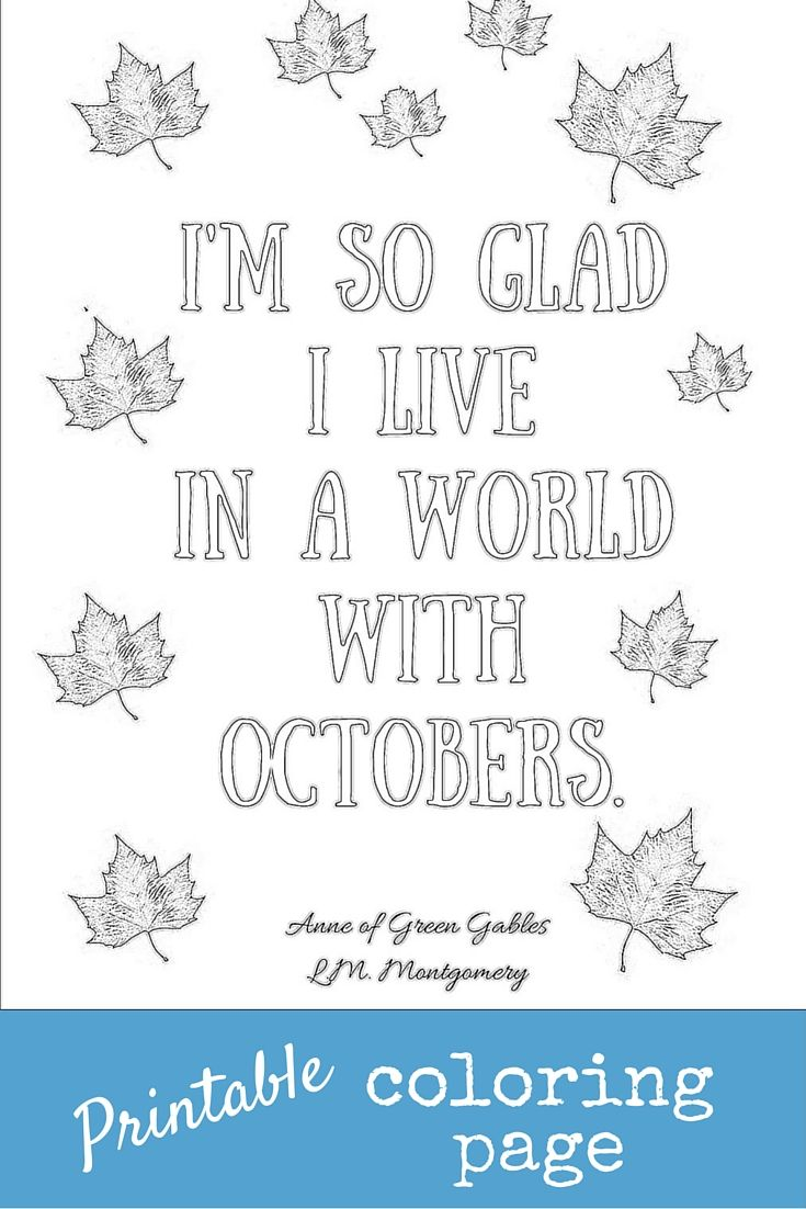 Printable coloring page to celebrate October. Grab some colored ...