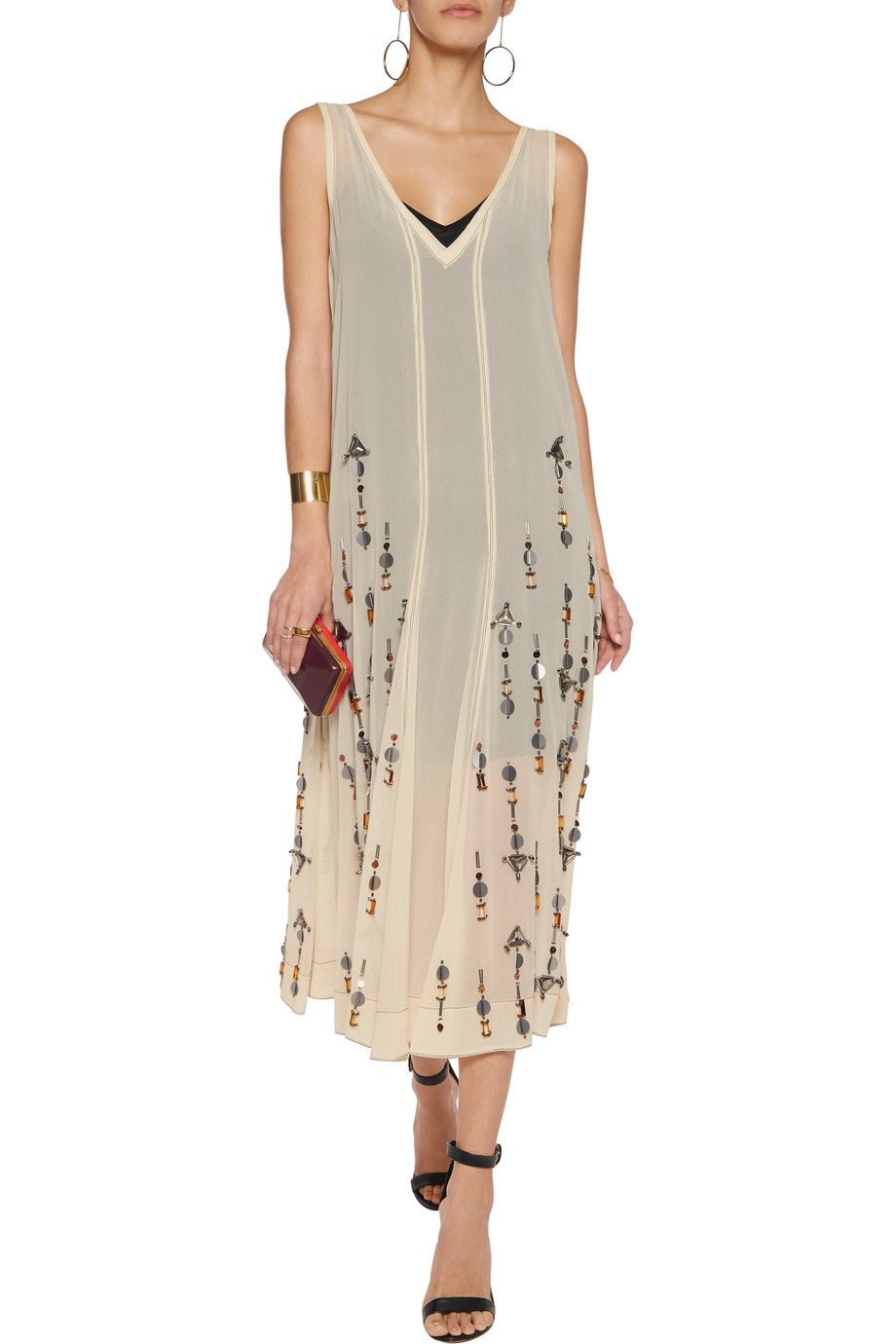 5a903c603c Shop on-sale By Malene Birger Gretas sequined chiffon midi dress . Browse  other discount designer Dresses   more on The Most Fashionable Fashion  Outlet