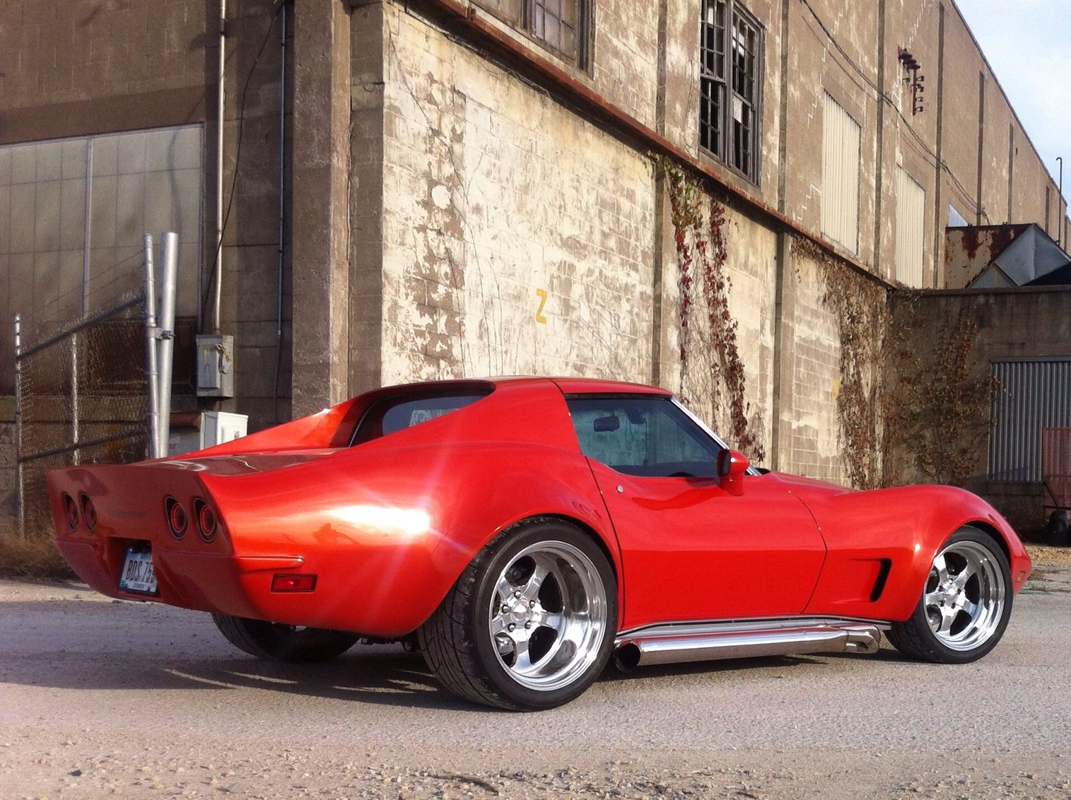 76 corvette stingray with rear end conversion flares and paint by custom image corvettes