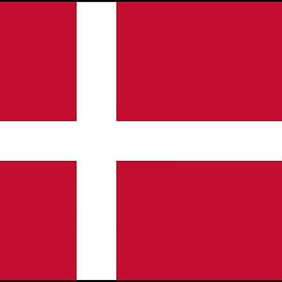 Danish flag stickers