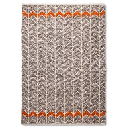 Mudhut Flatweave Chevron Area Rug Gray Orange 5x7 140