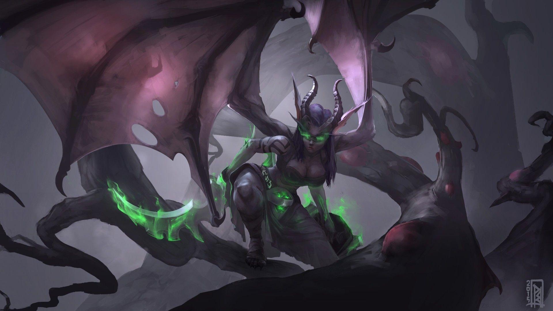 General 1920x1080 Fantasy Art Demoness Demon Hunter World Of