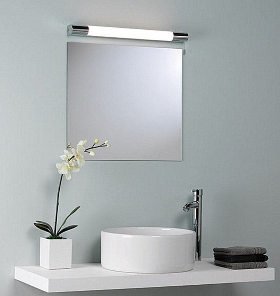 Modern bathroom mirrors - Above The Mirror Lighting Modern Bathroom