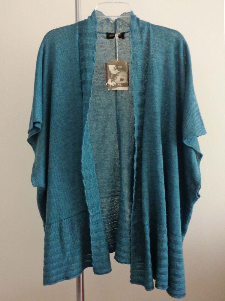Eskandar jacket lagenlook tabard artsy artsy marine Linen handloomed OS NWT $995 #eskandar #BasicJacket