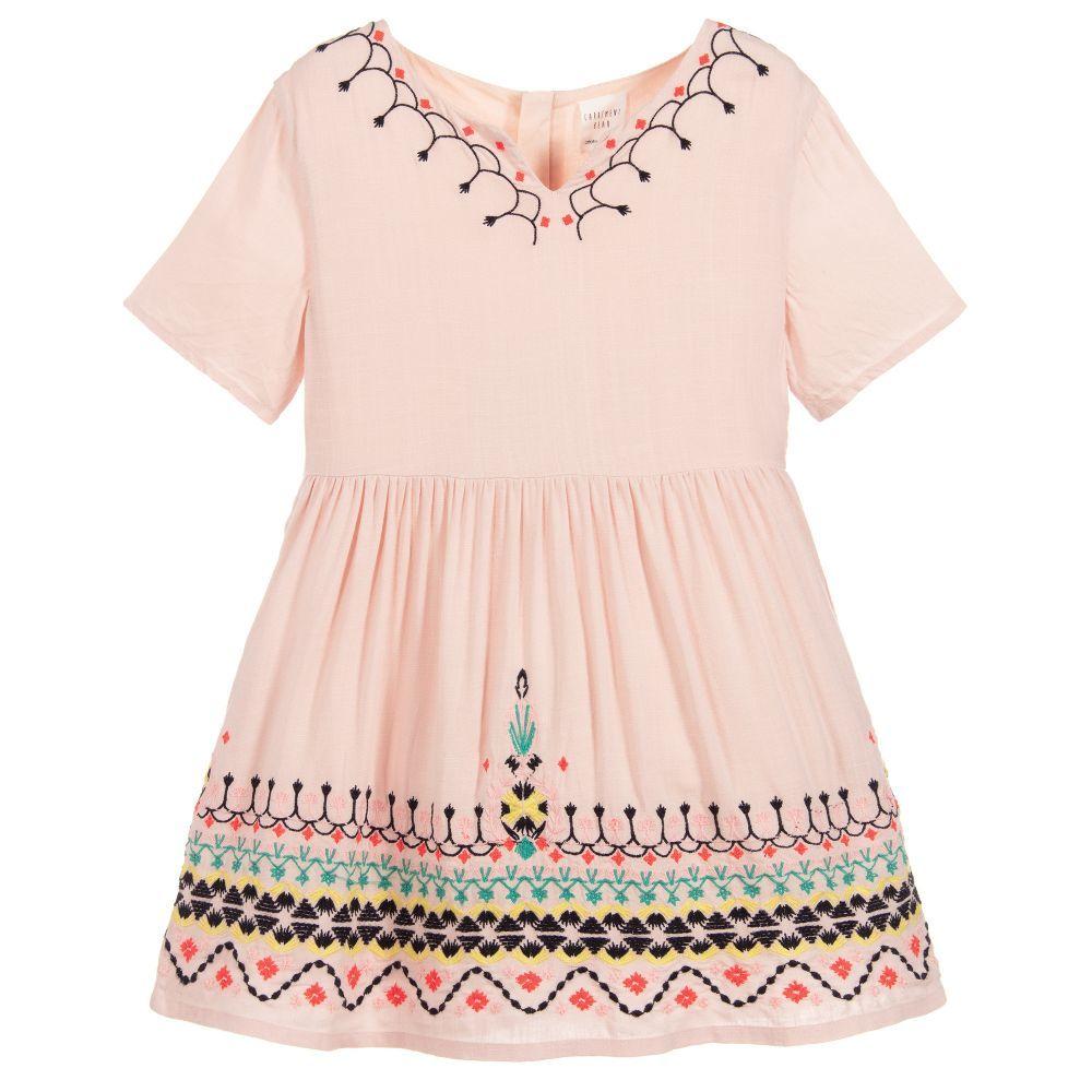 sports shoes d64ad 1ede4 Girls Pink Viscose Dress | Baby girl | Viscose dress ...
