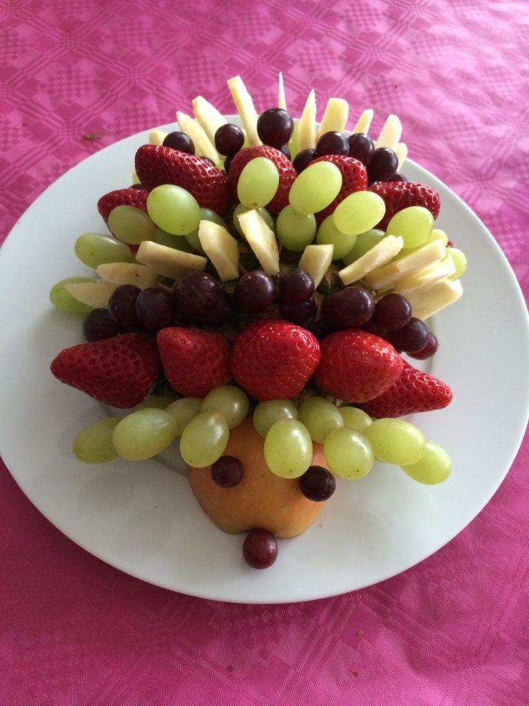 Obst Tiere Kreative Obstideen Fur Kinder Obsttiere Obst Igel