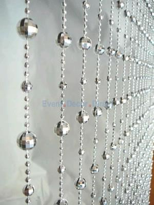 Disco Ball Decorations Cheap Awesome 6Ft Disco Ball Beaded Curtain In Silver  Event Decor Direct Review