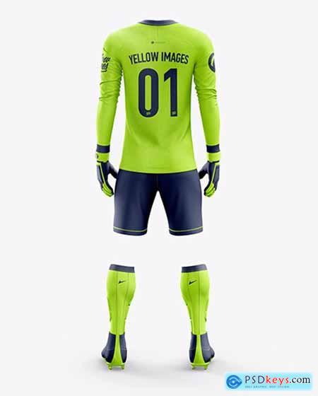Download Mens Full Soccer Goalkeeper Kit Mockup Back View Clothing Mockup Goalkeeper Kits Shirt Mockup