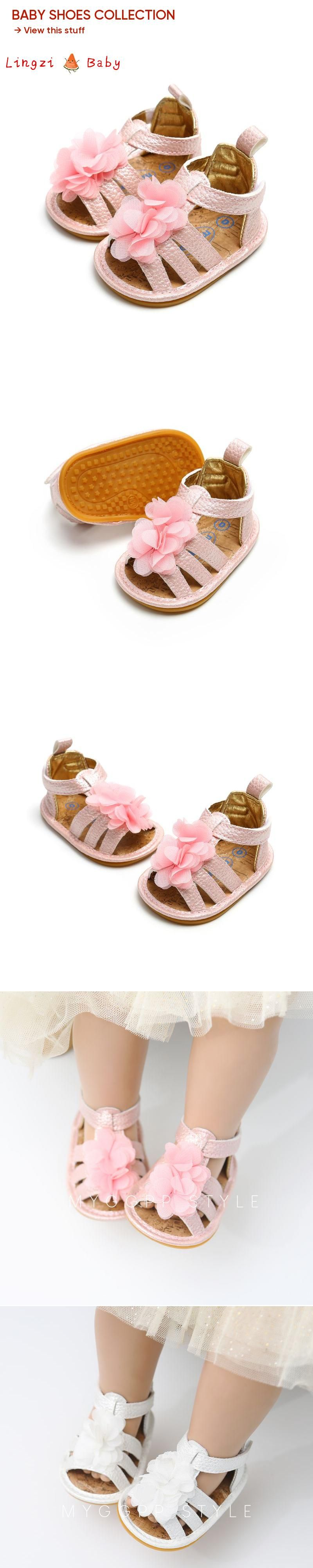ff4249ea7 Flower Girl Shoes Newst Summer Baby Girl Sandals 0-18M Fashion Flowers Non- slip Newborn Baby Sandals Rome Style