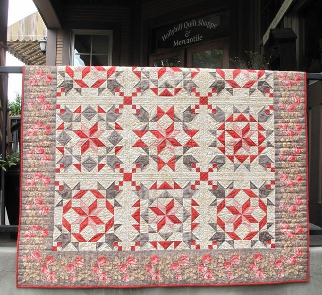 Red Velvet dream quilt kit from Hollyhill Quilt Shoppe. Uses Moda ... : velvet dreams quilt - Adamdwight.com