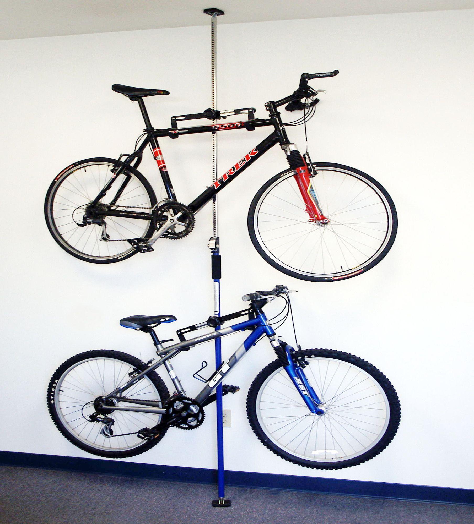 2 bike q rack system ceiling mounted bike rack bicycles. Black Bedroom Furniture Sets. Home Design Ideas