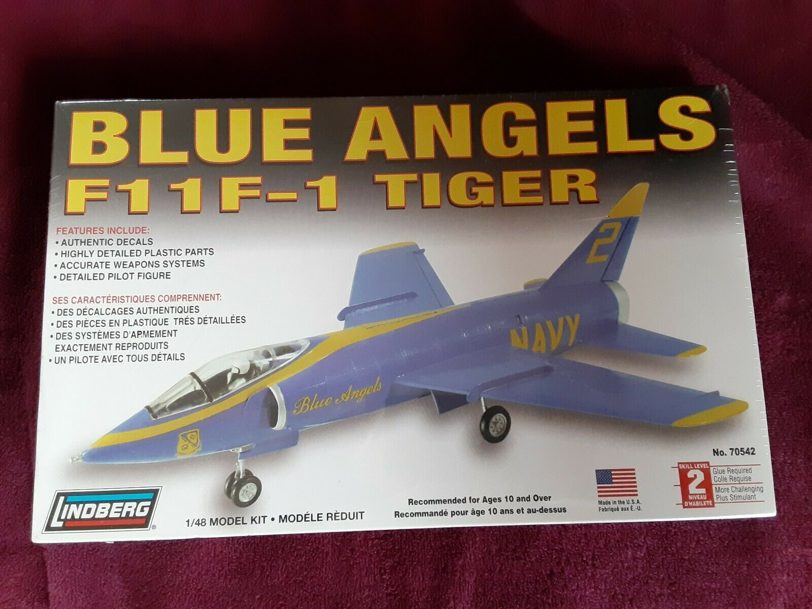 Lindberg Model Kit New Blue Angels Tiger F1 F 1 Plane