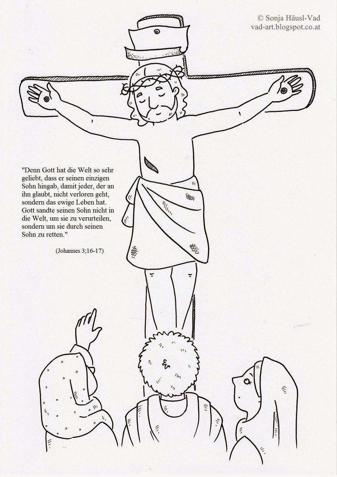 Kreuzigung | Bibel-Ausmalbilder | Pinterest | die Bibel ...