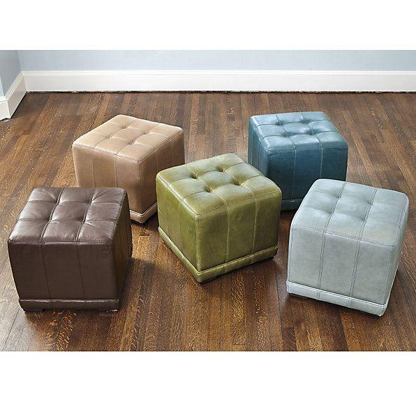 Awe Inspiring Leather Cube Ottoman Ballard Designs The Teal Or Moss Short Links Chair Design For Home Short Linksinfo