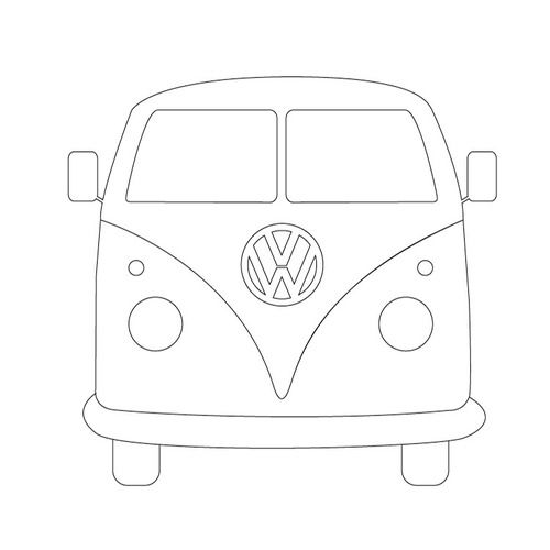 Line Drawing Van : Camper outline the is made up of craft ideas