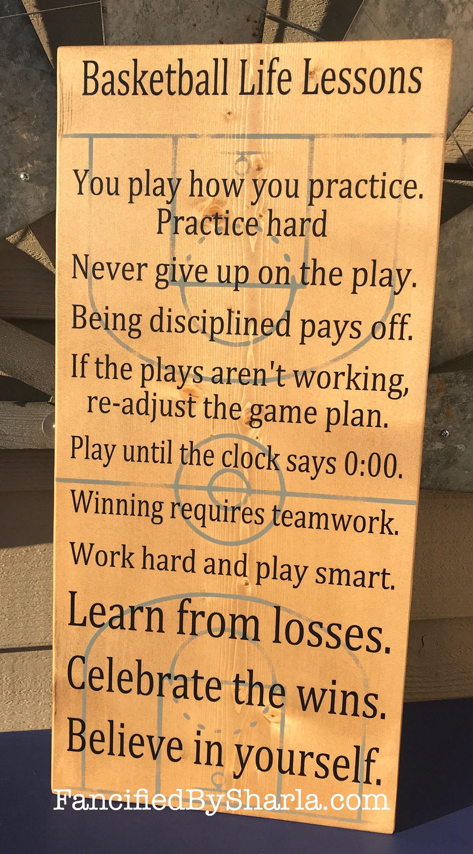Basketball Life Lessons Gift For Basketball Player Gift For Etsy Basketball Player Gifts Basketball Players Basketball Signs